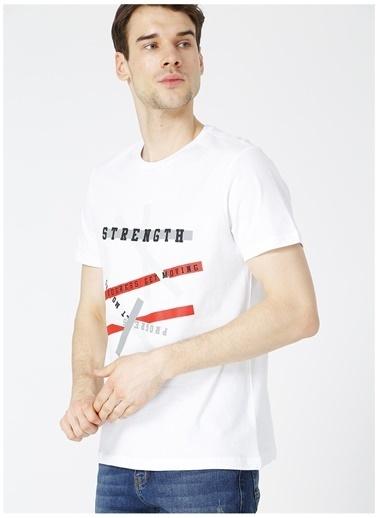 Fabrika Sports Fabrika Sports Arman Beyaz Yazı BaskılıBisiklet Yaka Erkek T-Shirt Beyaz